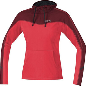 GORE WEAR R3 Hoodie Women, hibiscus pink/chestnut red
